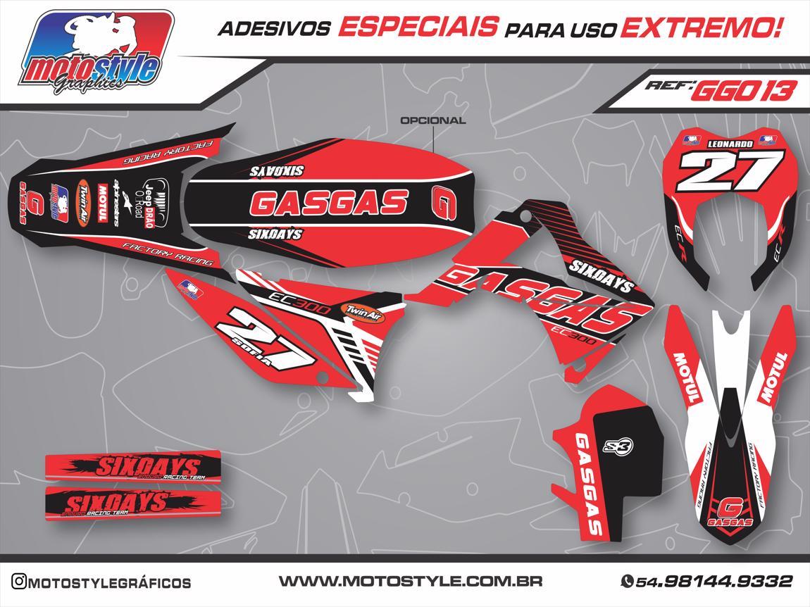 GG013 GRÁFICO ADESIVO GASGAS RACING SIX DAYS
