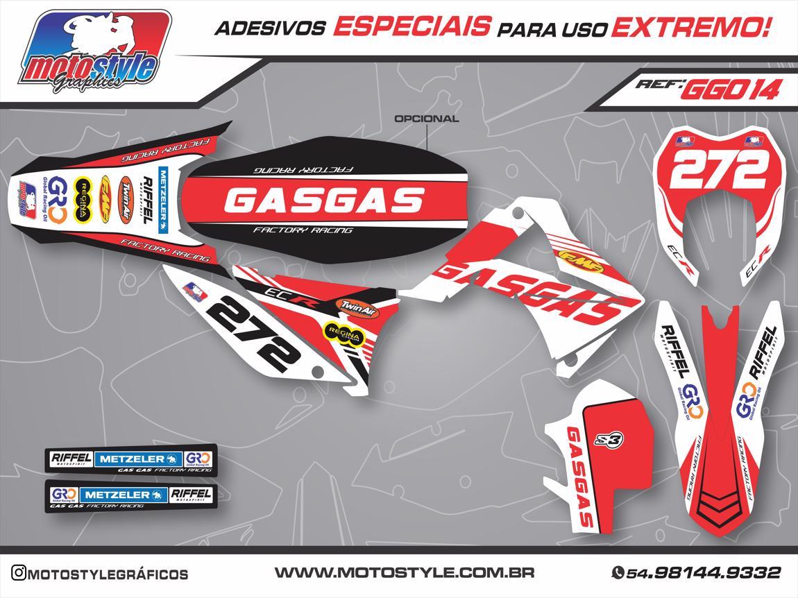 GG014 GRÁFICO ADESIVO GASGAS FACTORY RACING