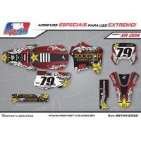 XR 004 GRÁFICO ADESIVO HONDA XR200 ROCKSTAR