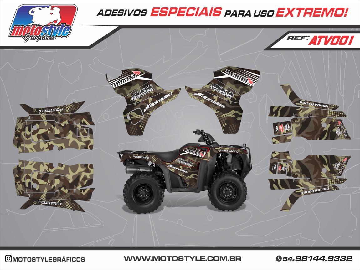 ATV 001 GRÁFICO ADESIVO QUADRICICLO HONDA FOURTRAX