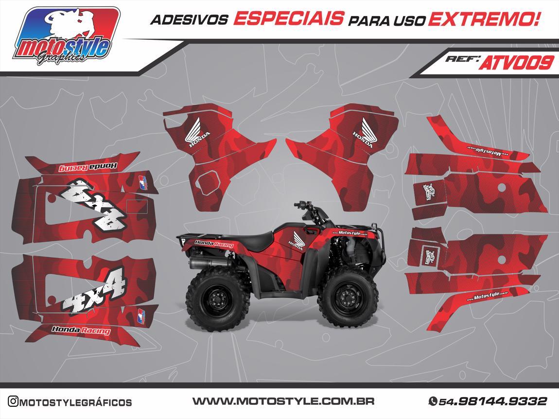 ATV 009 GRÁFICO ADESIVO QUADRICICLO HONDA FOURTRAX