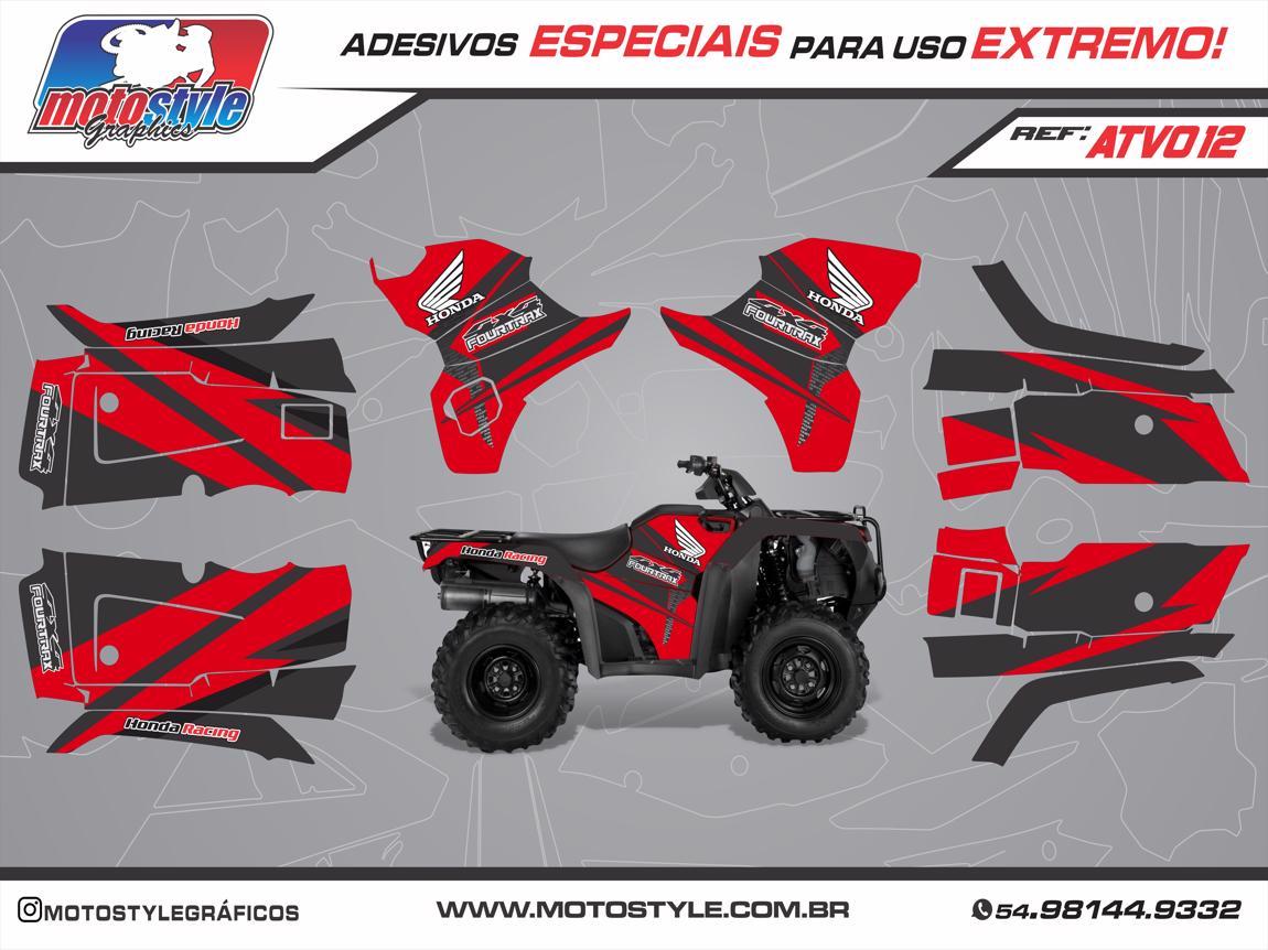 ATV 012 GRÁFICO ADESIVO QUADRICICLO HONDA FOURTRAX