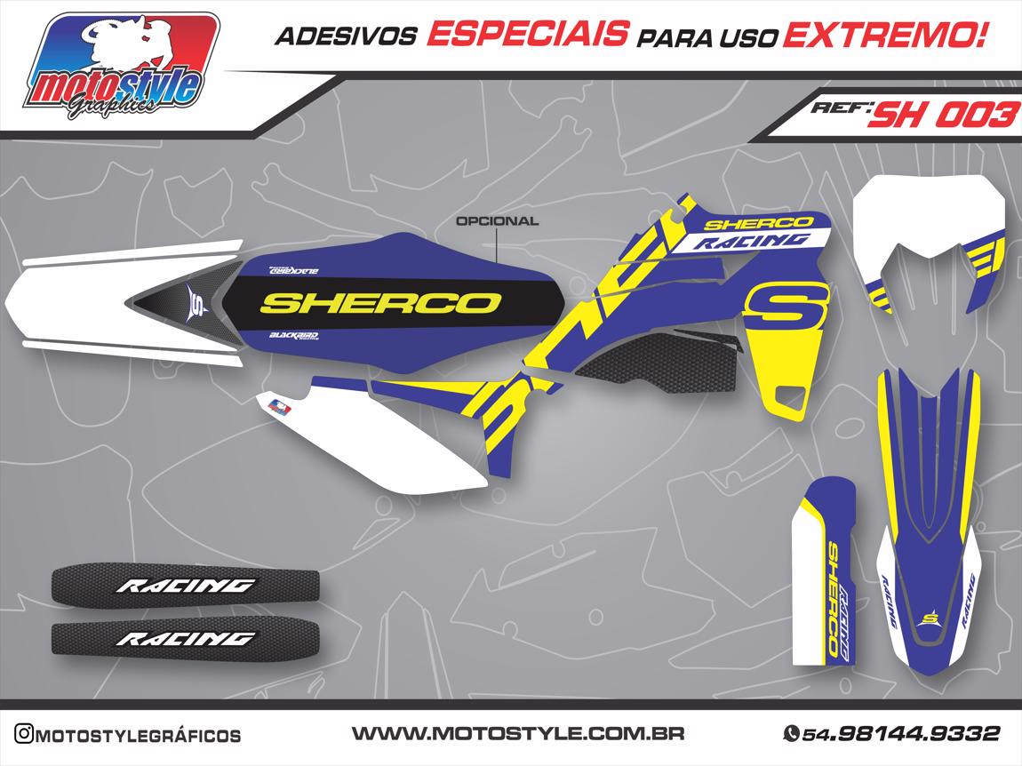 SH 003 GRÁFICO ADESIVO SHERCO RACING