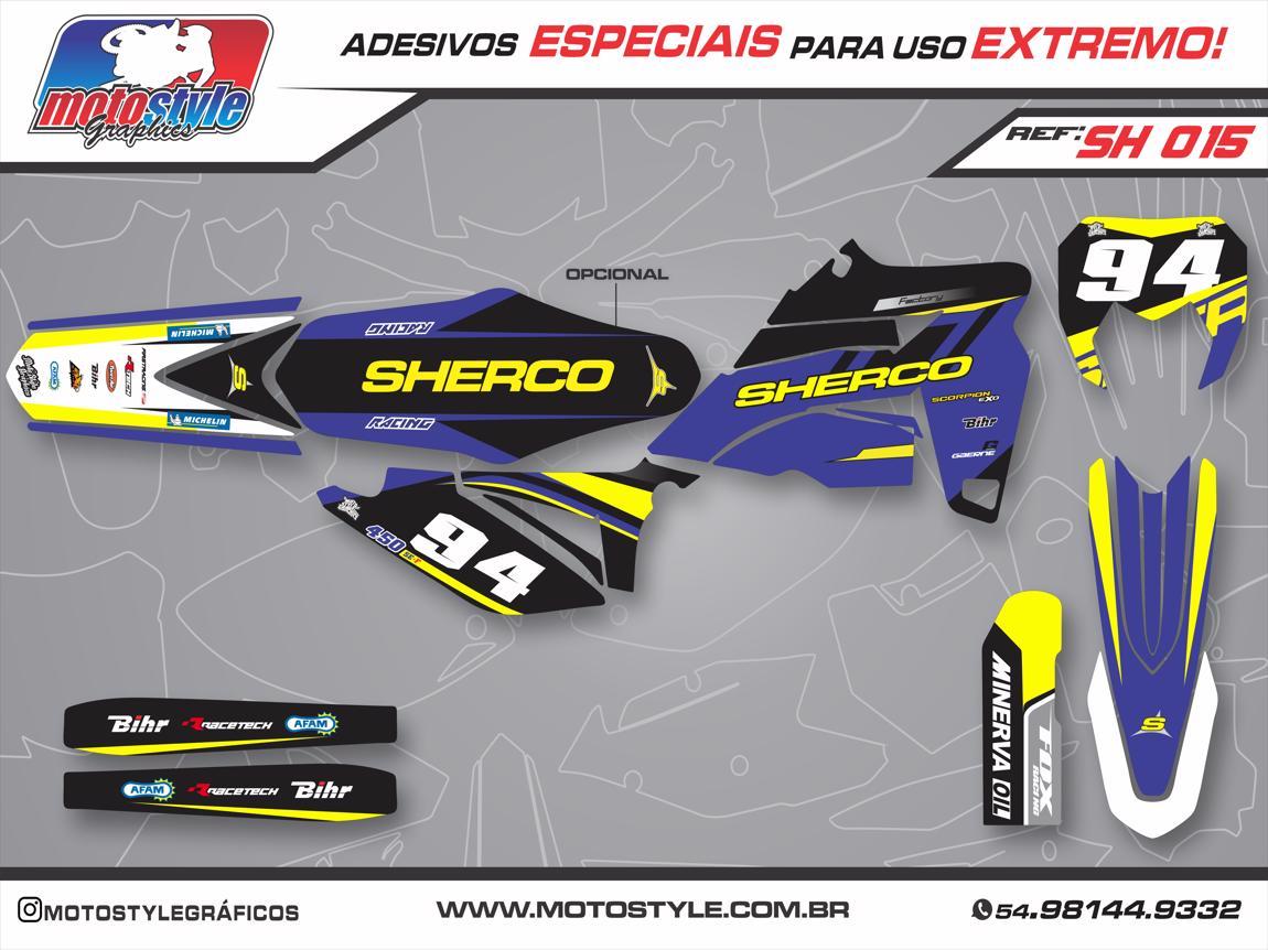 SH 015 GRÁFICO ADESIVO SHERCO RACING