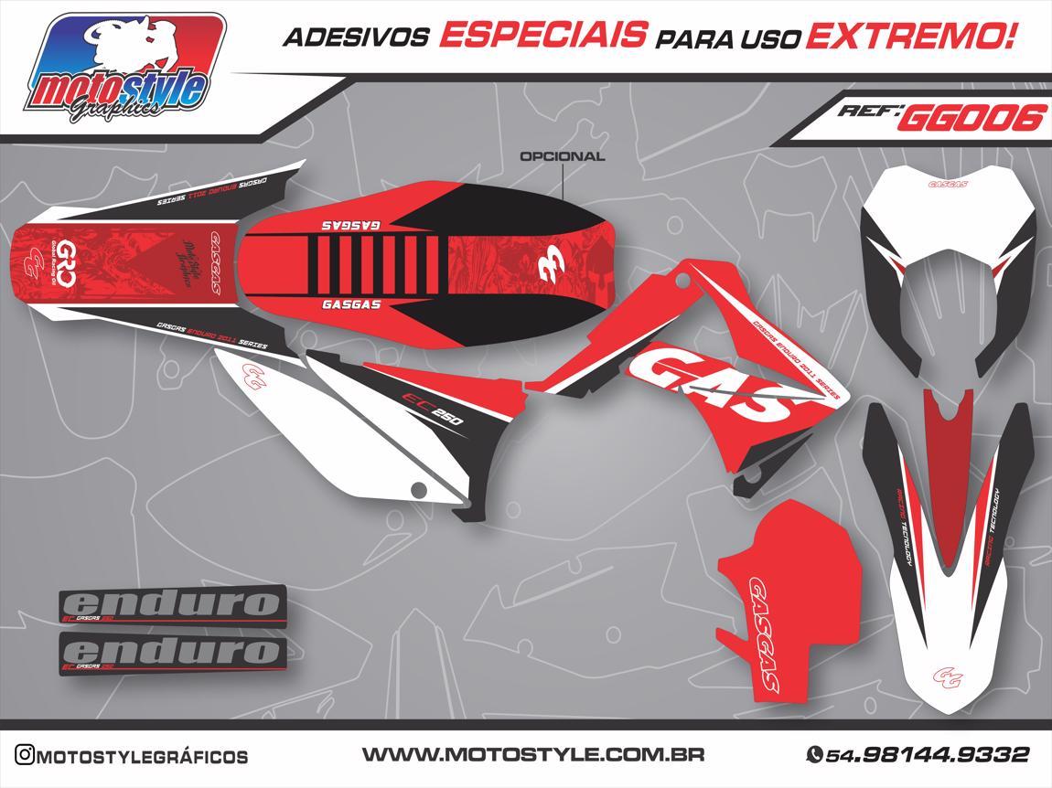GG006 GRÁFICO ADESIVO GASGAS RACING ENDURO 2011 SERIES