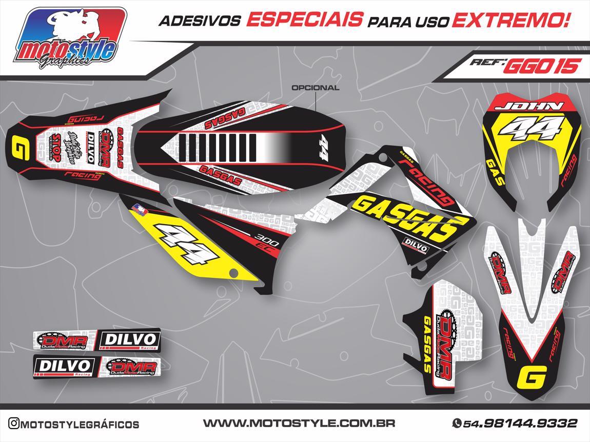 GG015 GRÁFICO ADESIVO GASGAS RACING