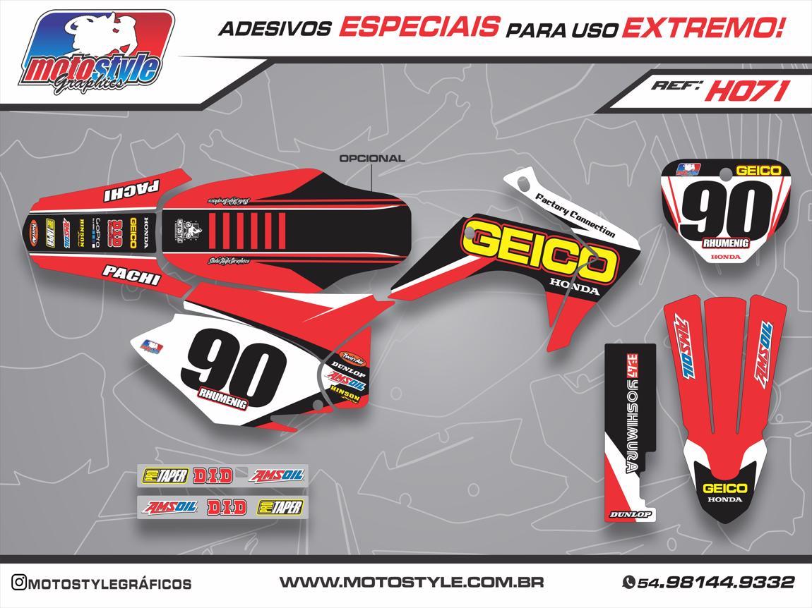 H071 GRÁFICO ADESIVO HONDA CRF 230 GEICO