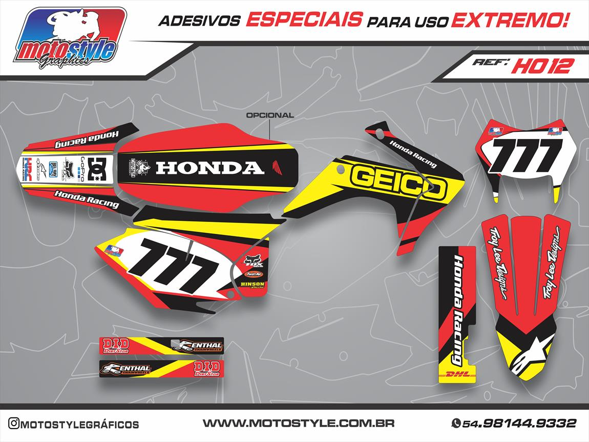 H012 GRÁFICO ADESIVO HONDA CRF 230 GEICO