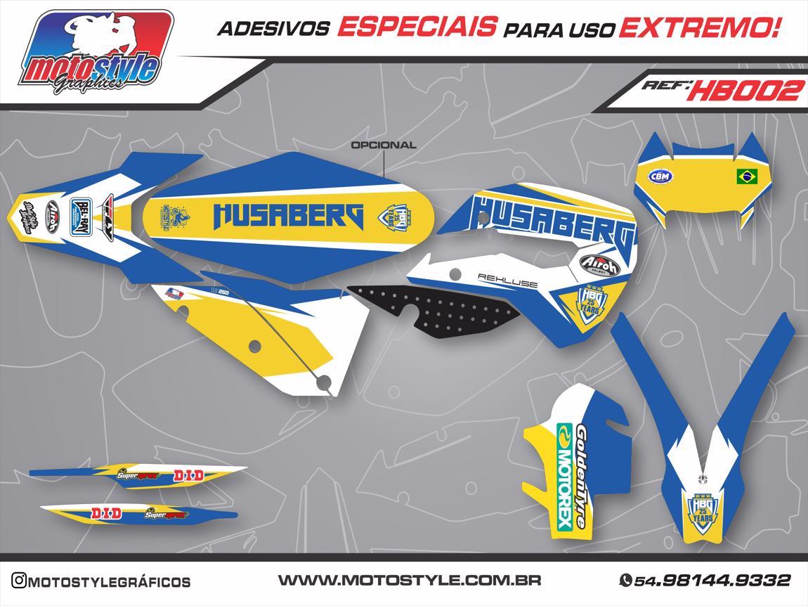 HB002 GRÁFICO ADESIVO HUSABERG