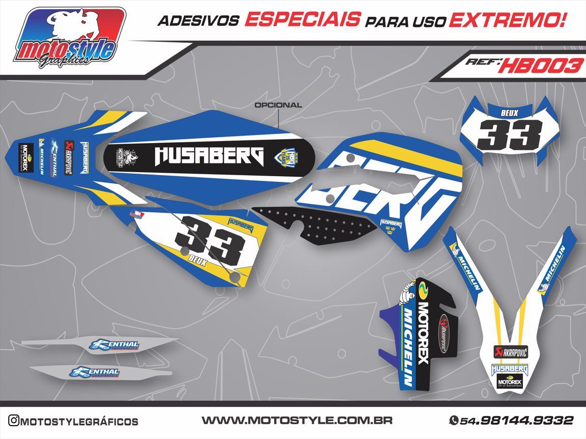 HB003 GRÁFICO ADESIVO HUSABERG