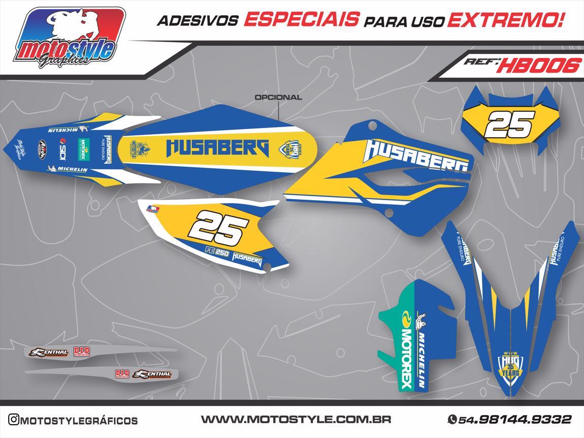 HB006 GRÁFICO ADESIVO HUSABERG