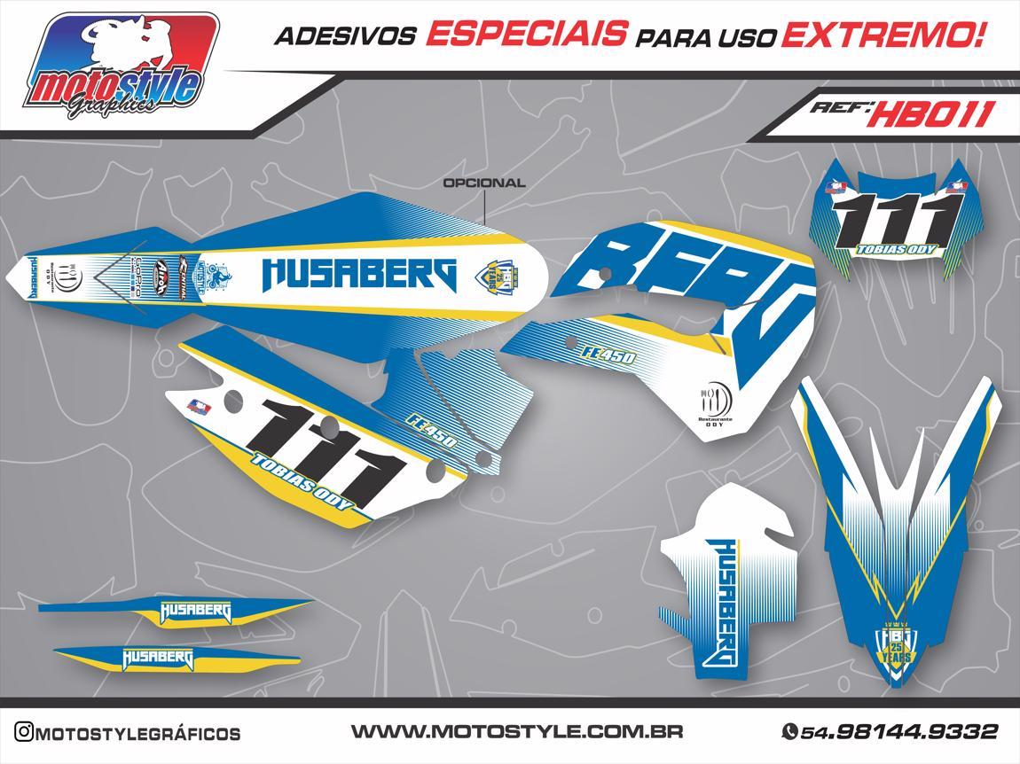 HB011 GRÁFICO ADESIVO HUSABERG