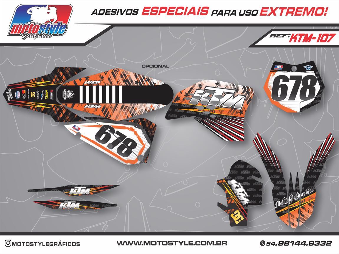 KTM 107 GRÁFICO ADESIVO KTM