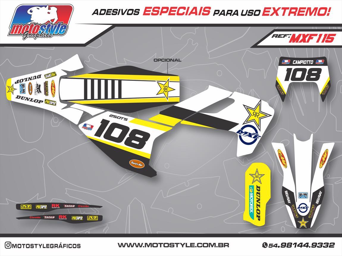 MXF 115 GRÁFICO ADESIVO MXF 2T ROCKSTAR