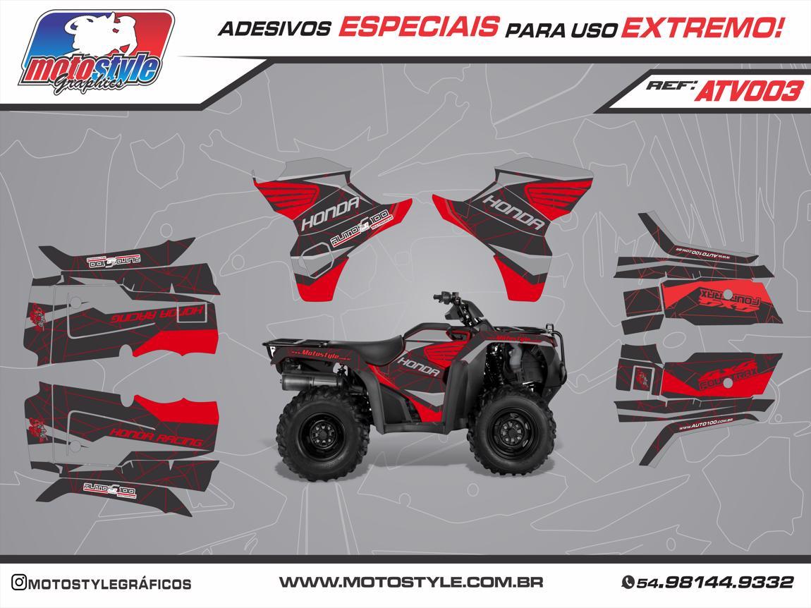 ATV 003 GRÁFICO ADESIVO QUADRICICLO HONDA FOURTRAX