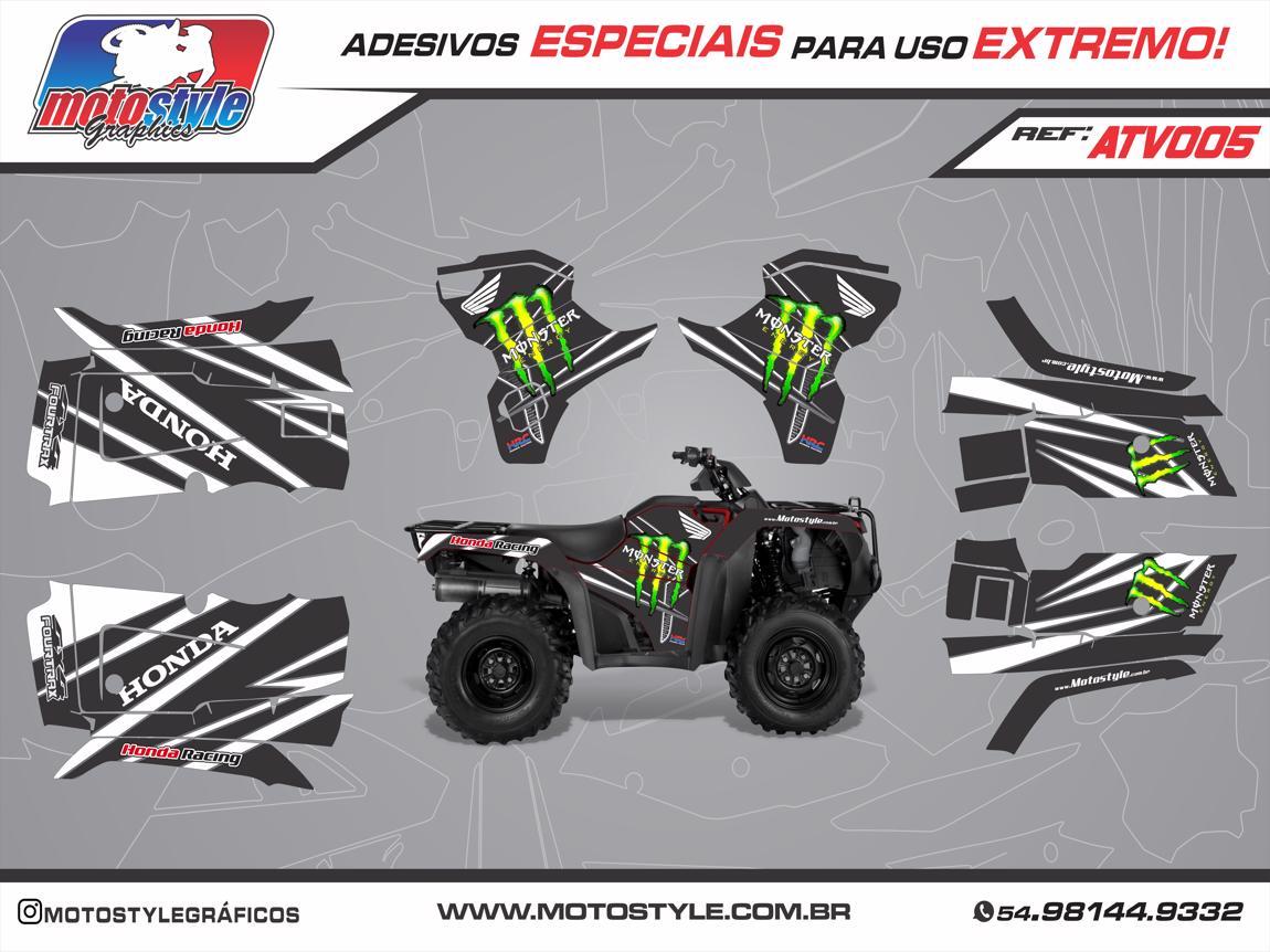 ATV 005 GRÁFICO ADESIVO QUADRICICLO HONDA FOURTRAX MONSTER