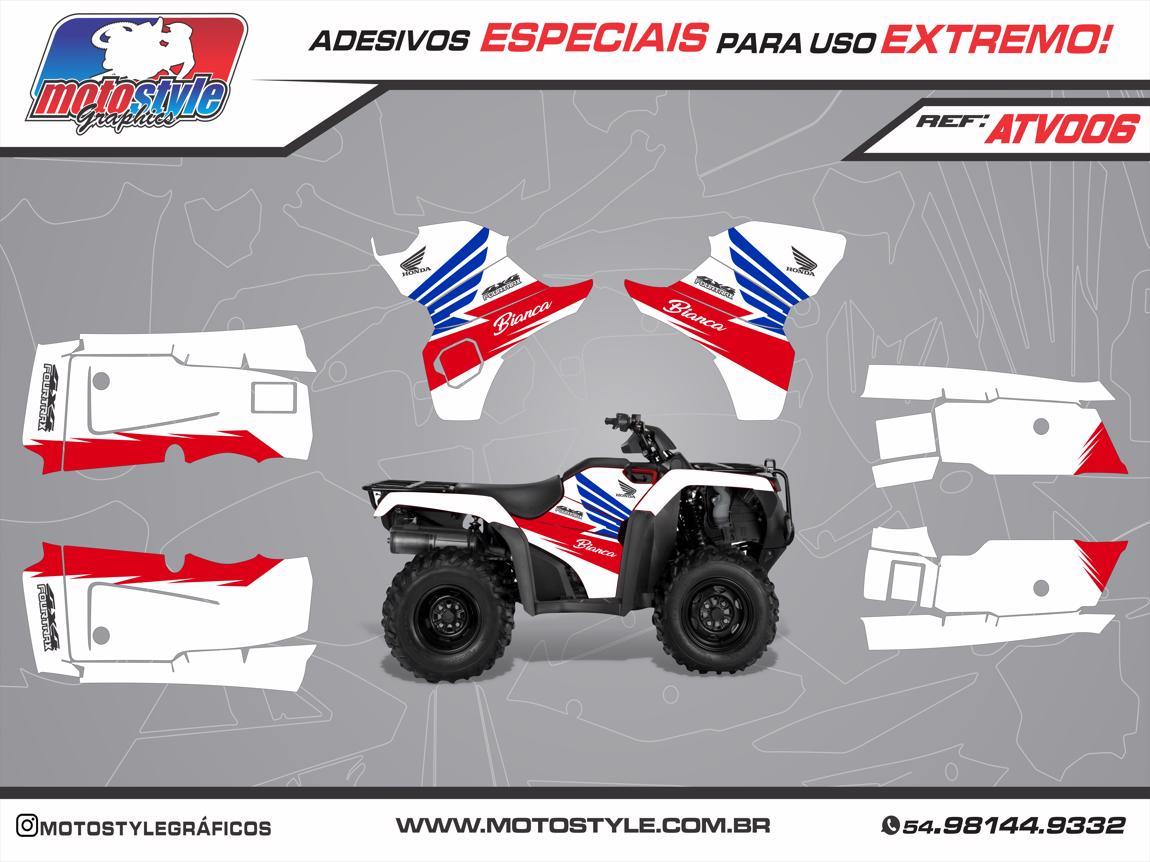 ATV 006 GRÁFICO ADESIVO QUADRICICLO HONDA FOURTRAX