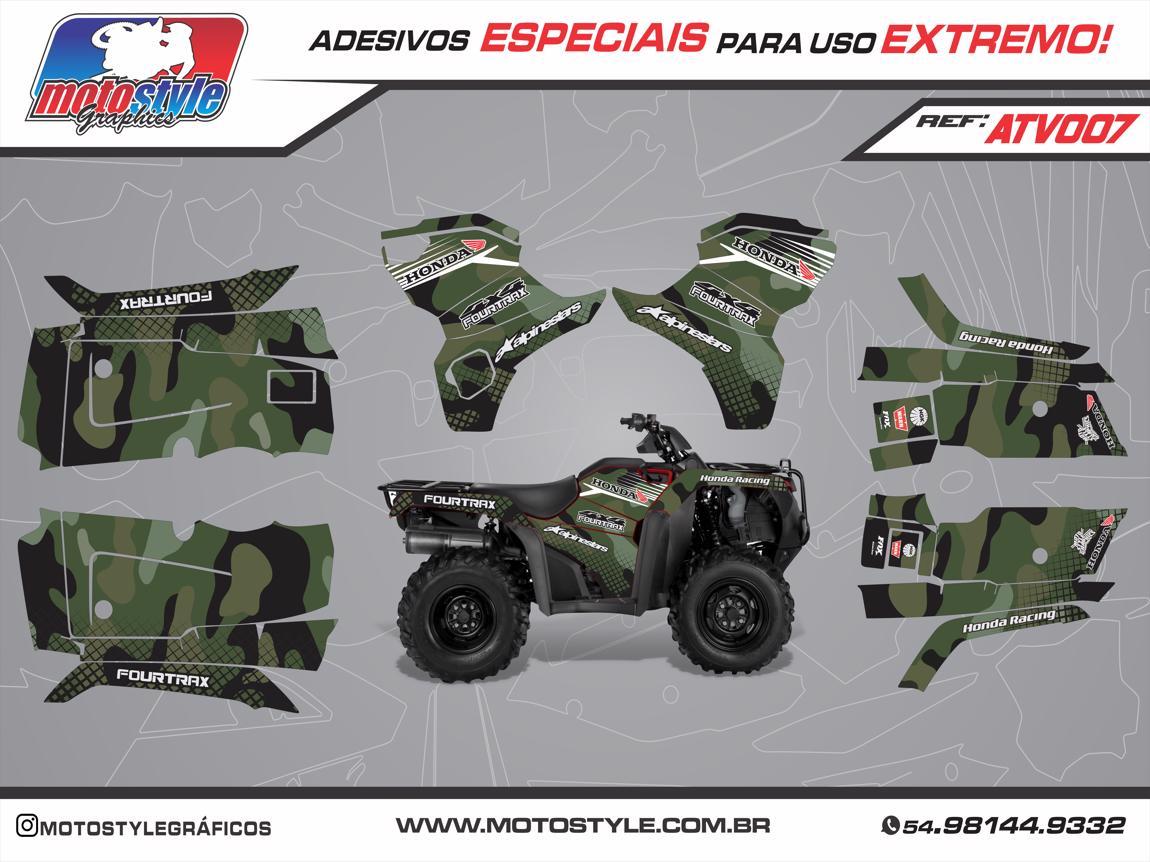 ATV 007 GRÁFICO ADESIVO QUADRICICLO HONDA FOURTRAX