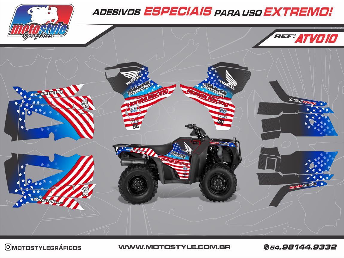 ATV 010 GRÁFICO ADESIVO QUADRICICLO HONDA FOURTRAX