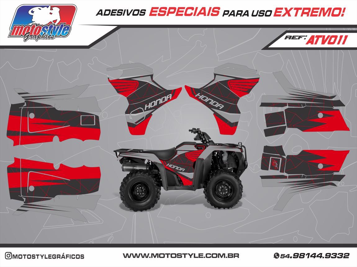 ATV 011 GRÁFICO ADESIVO QUADRICICLO HONDA FOURTRAX