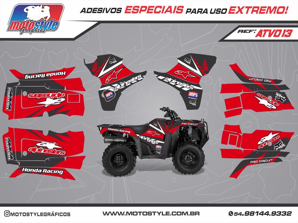 ATV 013 GRÁFICO ADESIVO QUADRICICLO HONDA FOURTRAX