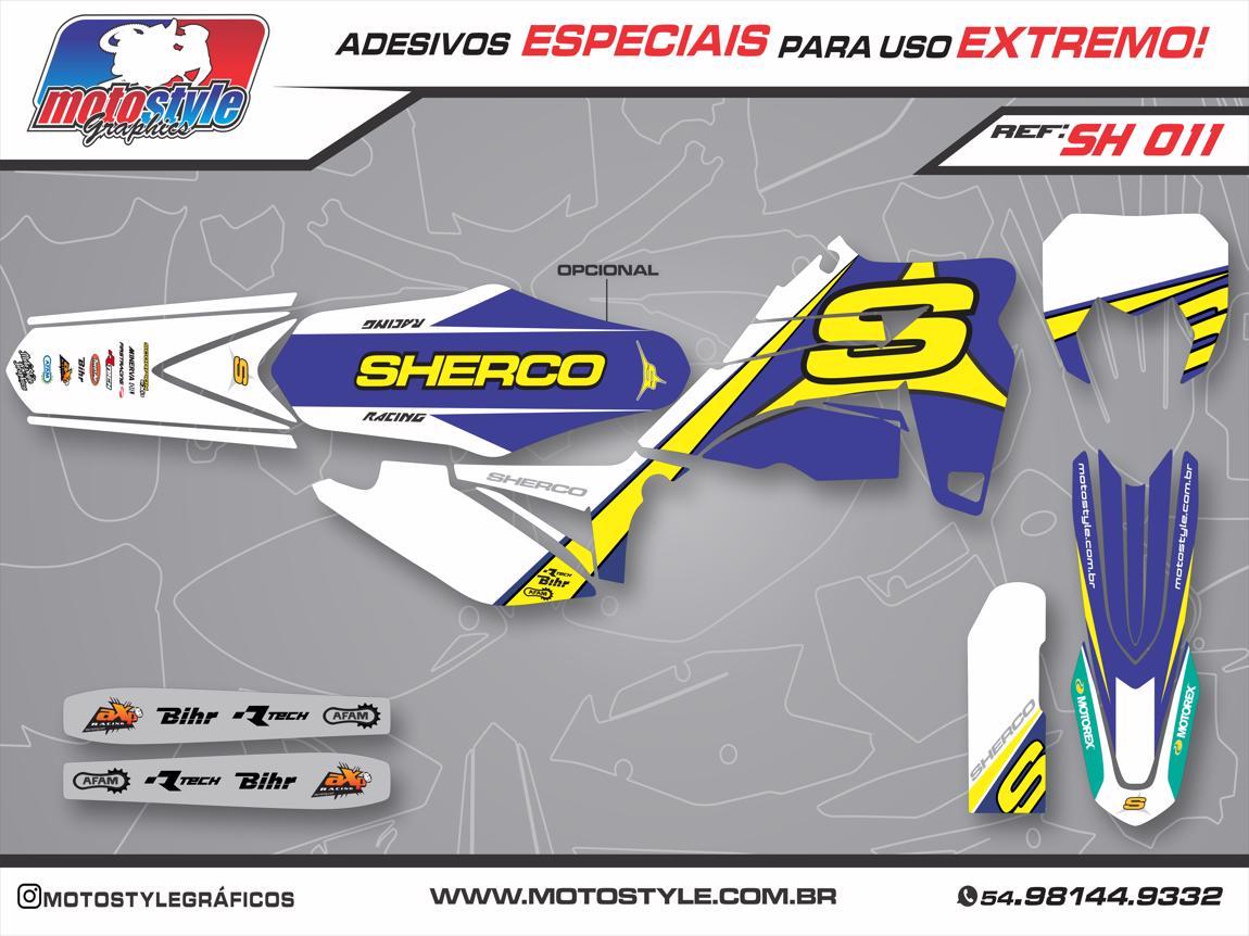 SH 011 GRÁFICO ADESIVO SHERCO AZUL