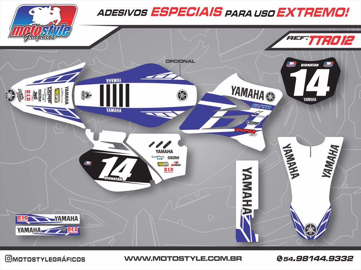 TTR 012 GRÁFICO ADESIVO YAMAHA TTR